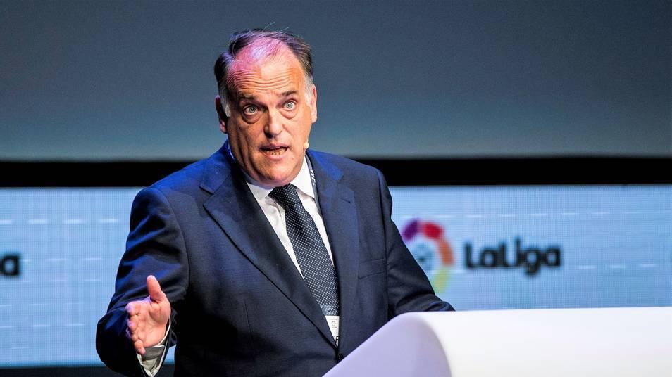 Chủ tịch La Liga, Javier Tebas tố cáo Joan Laporta nói dối
