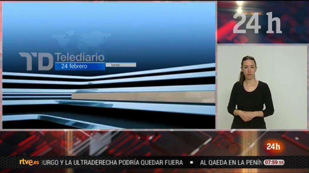 Telediario - 8 horas - 24/02/20 - Lengua de signos