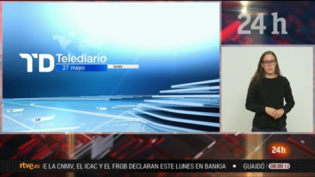 Telediario - 8 horas - 27/05/19 - Lengua de signos