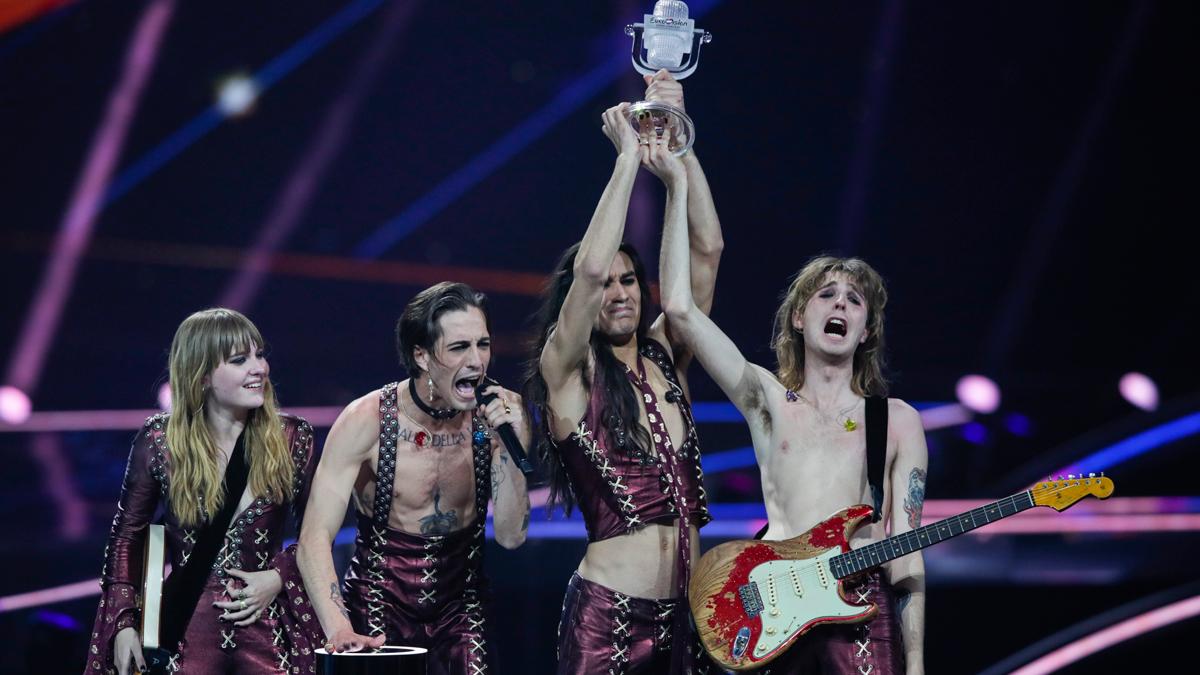 Telediario - Entrevista a Måneskin, ganador de Eurovisión