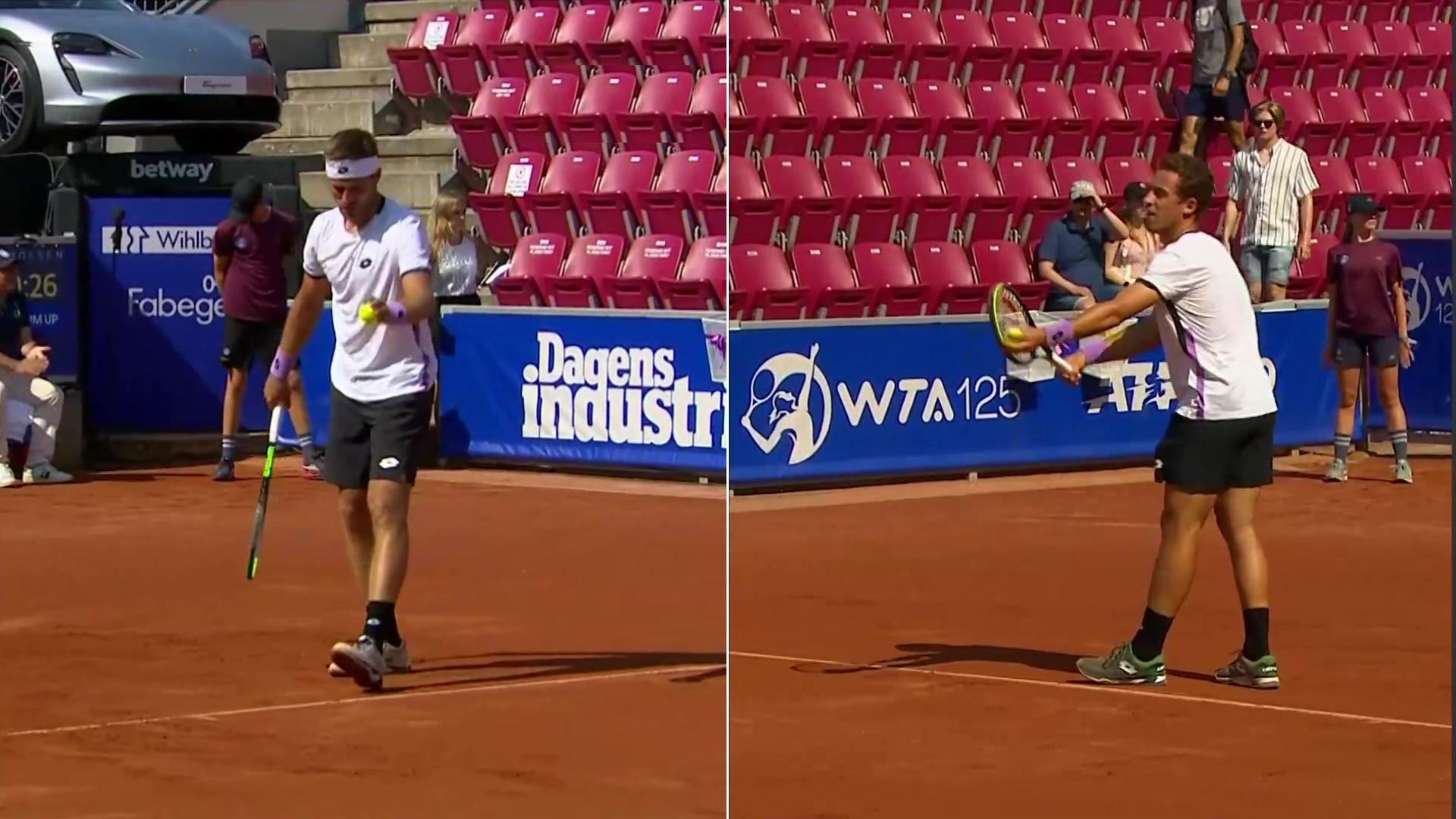 ATP 250 Torneo Bastad, 1/4 final: R. Carballés Baena - N. Go