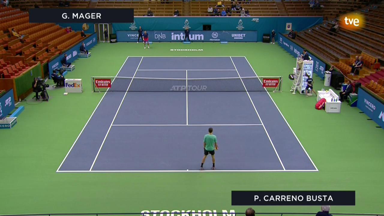 ATP 250 Torneo Estocolmo: Carreño Busta - Mager