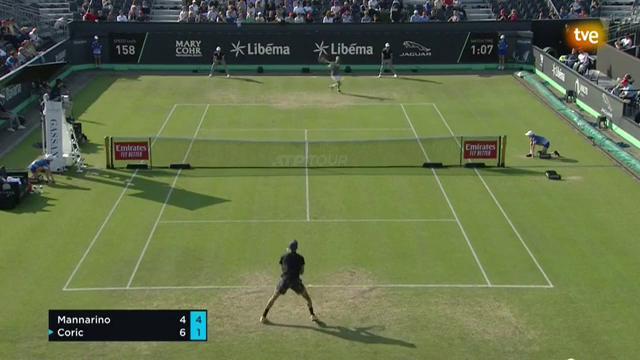ATP 250 Torneo Hertogenbosch 2ª Semifinal: Mannarino - Coric