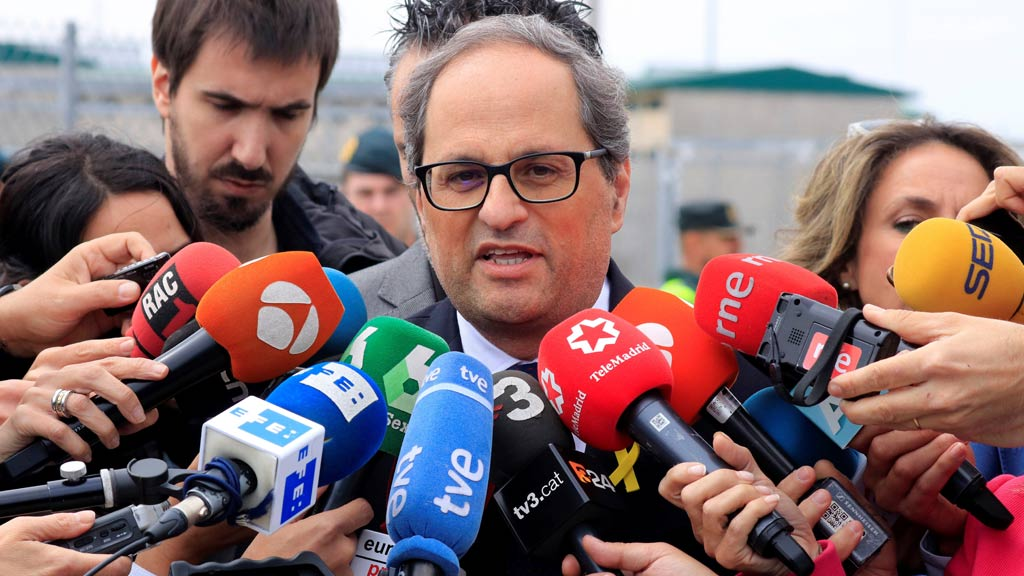 """Torra afirma que los 'consellers' en prisión quieren """"acceder al cargo"""" y pide su libertad"""