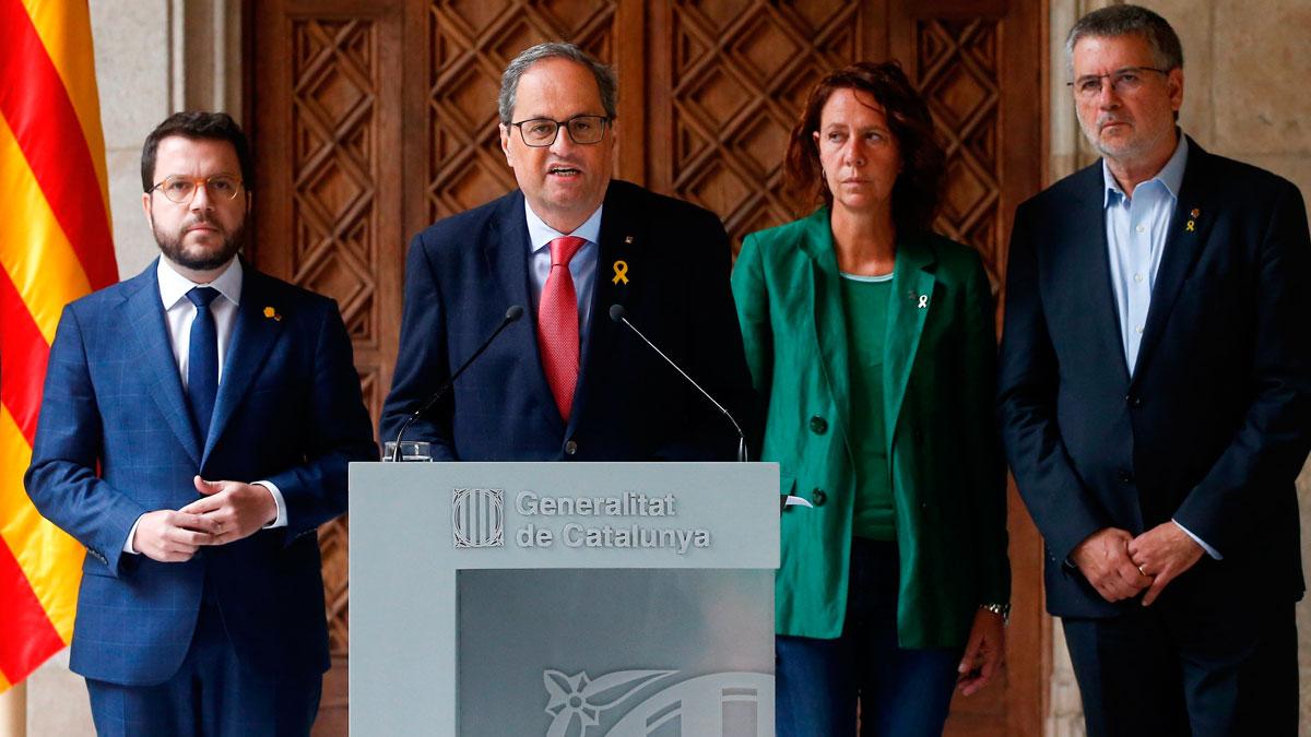 Torra insiste en desvincular la violencia del independentismo y pide a Sánchez una reunión sin condiciones