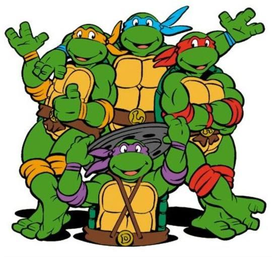 Las tortugas de la serie de dibujos animados de los 80
