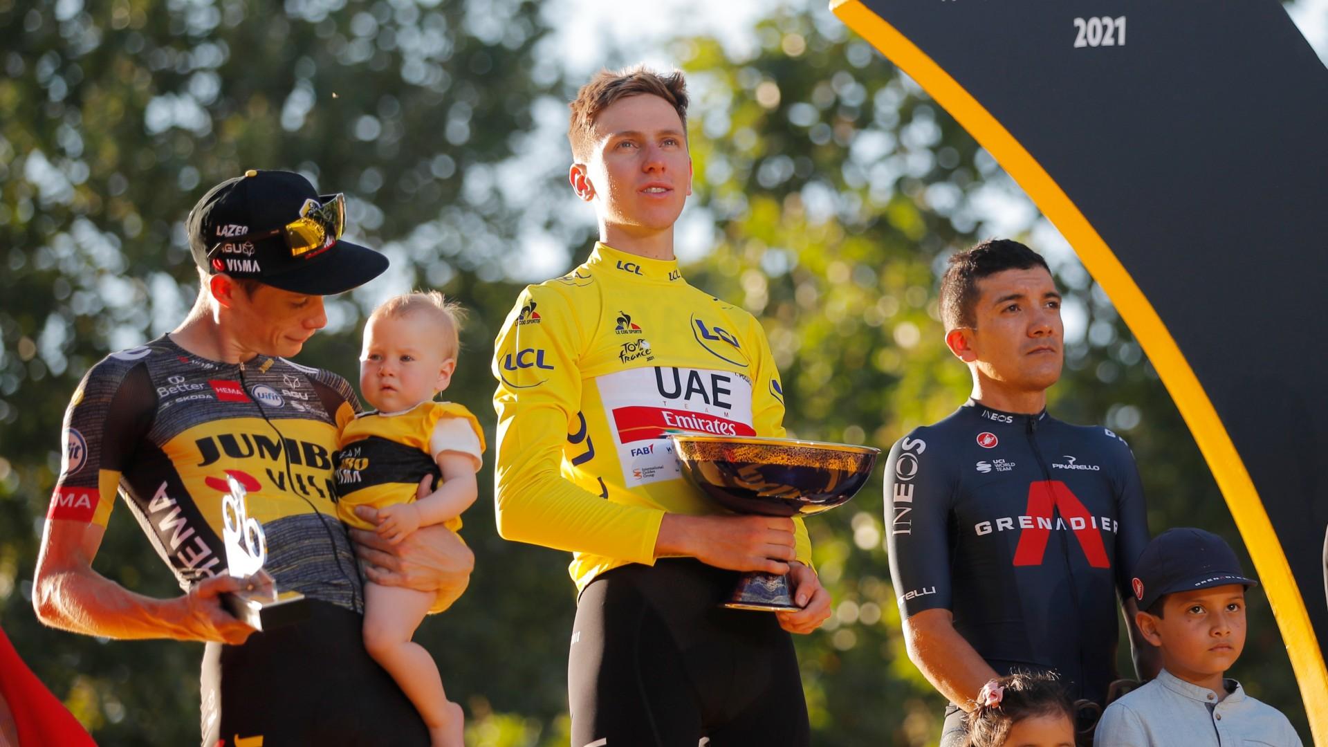 Tour 2021 | Pogacar, Vingegaard y Carapaz suben al podio del Tour de Francia 2021