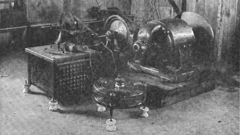 El transmisor de radio de Reginald Fessenden que instaló en la estación de Brant Rock