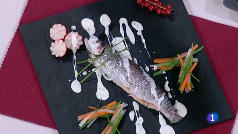 Cocina con Sergio - Truchas rellenas de marisco en salsa de crema