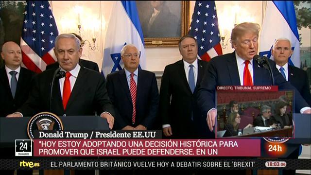 Trump reconoce la soberanía israelí en los Altos del Golán