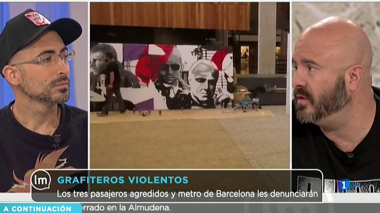 La Mañana - Varios grafiteros agreden a viandantes en el metro de Barcelona