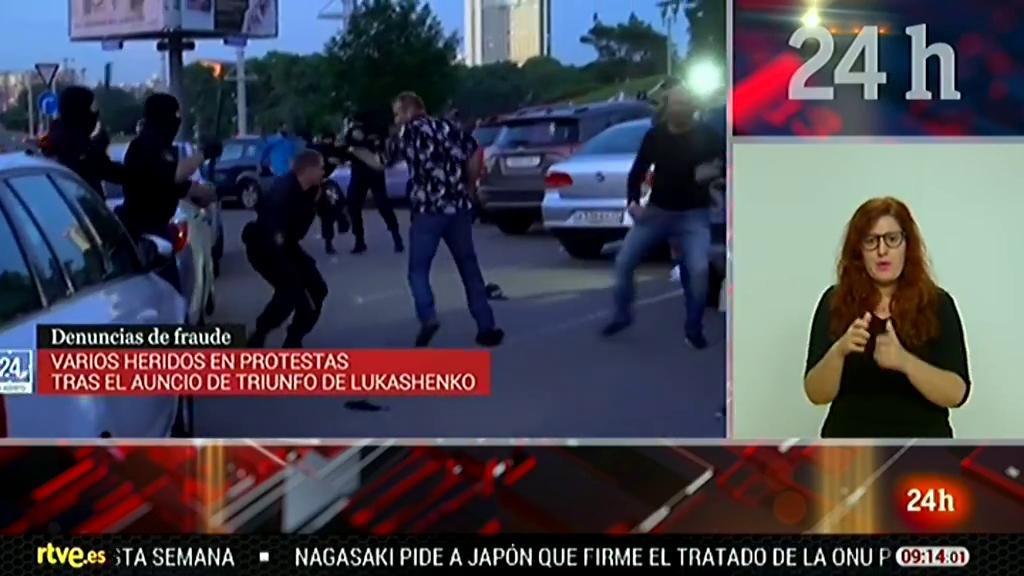 Varios heridos en Minsk durante las protestas contra el resultado electoral