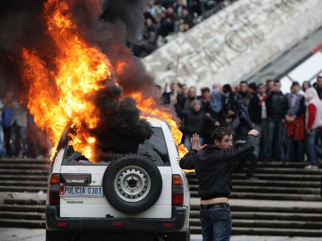Violentas protestas en Albania contra el Gobierno