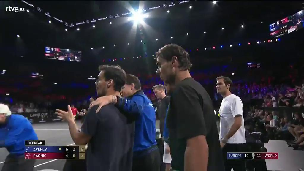 Zverev gana a Raonic y Europa celebra su tercera Laver Cup