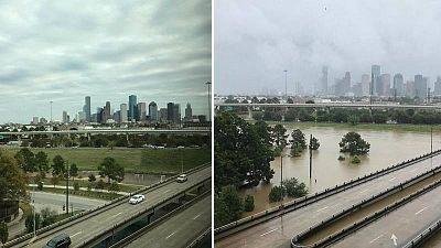 El antes y el después en Houston tras el paso del huracán Harvey