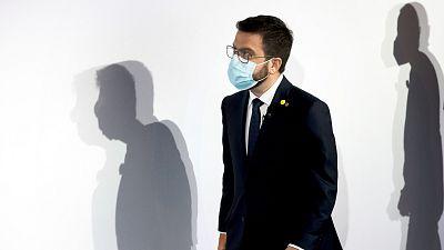 Aragonès tiende la mano a Sánchez para buscar en la mesa de diálogo una solución que luego se vote en Cataluña