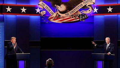 Los ataques personales y las interrupciones enfangan el primer debate electoral entre Trump y Biden