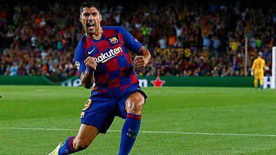 El Barça frustra al Inter con un doblete de Suárez