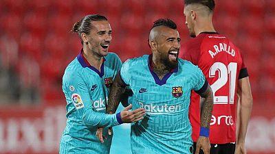 El Barça golea al Mallorca en un cómodo regreso a la Liga