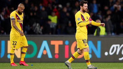 El Barça no pasa del empate en Nápoles, pero consigue un gol de oro para la vuelta