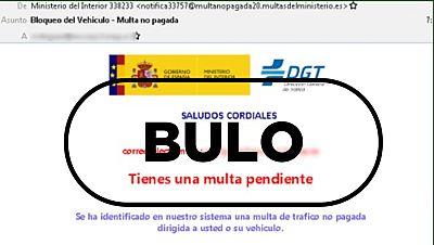 """El supuesto correo de la DGT sobre """"bloqueo del vehículo-multa no pagada"""" es un fraude"""