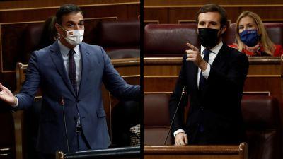 """Casado acusa a Sánchez de """"liquidar"""" la separación de poderes y este responde: """"Vuelva a ser un partido de Estado"""""""