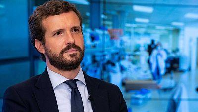 """Casado carga contra Sánchez por los disturbios: """"Si no para los pies a Iglesias se hace corresponsable"""""""