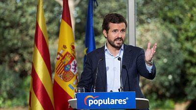 """Casado denuncia que Sánchez e Illa estén de campaña mientras """"la pandemia está mal gestionada"""""""