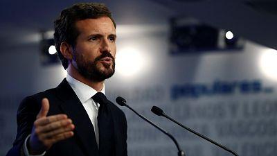 """Casado irá a Moncloa """"a escuchar"""" pero no negociará los Presupuestos con Podemos: """"A mí no me presiona nadie"""""""