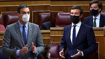"""Cataluña se cuela en el Congreso y Casado acusa a Sánchez de """"encargar a Illa un tripartito con ERC"""""""