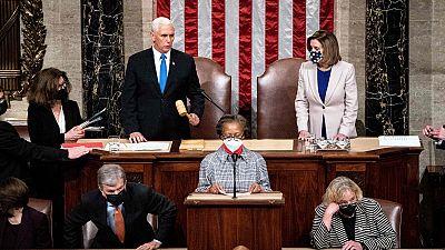 El Congreso estadounidense ratifica la victoria de Biden tras el asalto de los partidarios de Trump al Capitolio