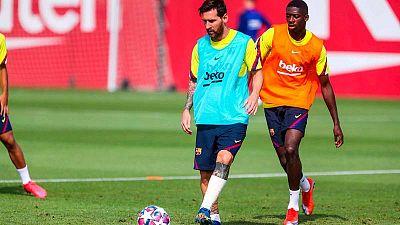 Dembélé, principal novedad en la convocatoria del Barça