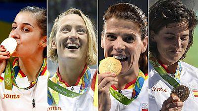 El deporte femenino despunta en Río y logra medallas inéditas para el olimpismo español