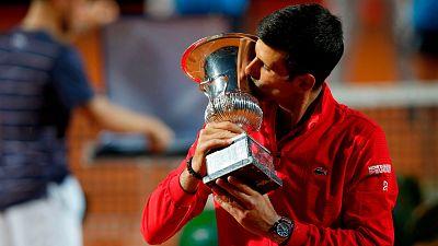 Novak Djokovic conquista Roma al vencer a Schwartzman