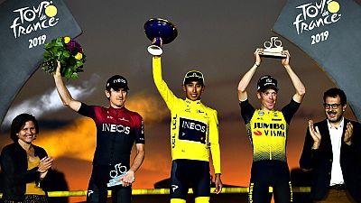 Egan Bernal salda la deuda del ciclismo con Colombia en el Tour de las lágrimas