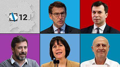 Todos contra la mayoría absoluta de Feijóo: quién es quién en las elecciones gallegas del 12J