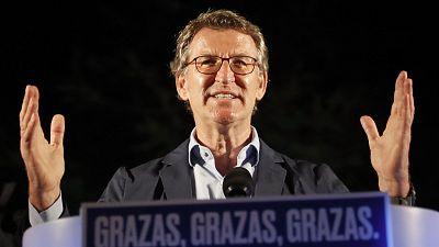 Feijóo logra su cuarta mayoría absoluta y el BNG liderará la oposición tras el hundimiento de Podemos