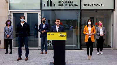 """ERC plantea un """"gobierno en solitario"""" ante la imposibilidad de alcanzar """"un acuerdo definitivo"""" con Junts"""