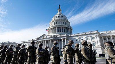 Washington: 'checkpoints' y soldados para blindar la toma de posesión de Biden en un dispositivo sin precedentes