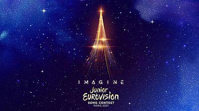 La Torre Eiffel de París, la imaginación y Navidad inspiran el logo de Eurovisión Junior 2021