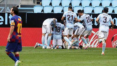 Iago Aspas frena al Barça en Balaídos