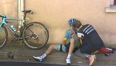Ion Izagirre sufre fracturas en la clavícula y la mano tras su caída en la undécima etapa del Tour