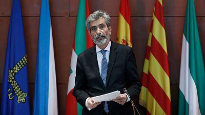 """Lesmes reivindica la figura del rey y expresa el """"enorme pesar"""" por su ausencia en Barcelona"""