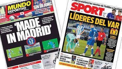El liderato con polémica del Real Madrid escuece en Barcelona