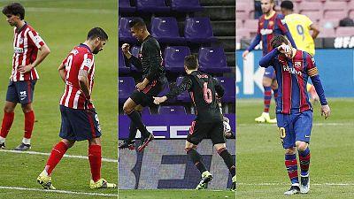 Febrero le devuelve sus opciones ligueras al Madrid ante un Atlético y un Barça que se tambalean