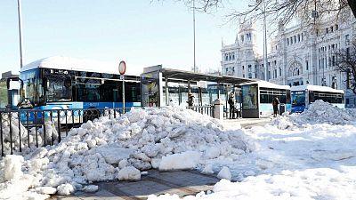 Madrid intenta volver a la normalidad después de la nevada mientras cifra los daños en la capital en 20 millones