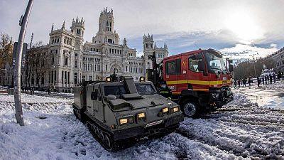 Madrid plantea retrasar la apertura de los colegios por el temporal y espera recuperar la movilidad general en 48 horas