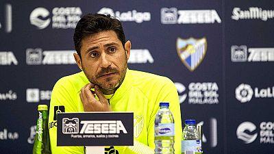 El Málaga suspende a su entrenador Víctor Sánchez tras la difusión en Internet de un vídeo suyo de contenido sexual