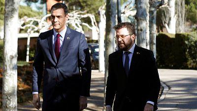 Sánchez y Aragonès harán una declaración institucional tras su reunión previa a la mesa de diálogo