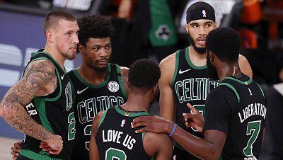 Tatum y Brown aparecen providenciales para guiar a los Celtics a su primer triunfo ante los Heat